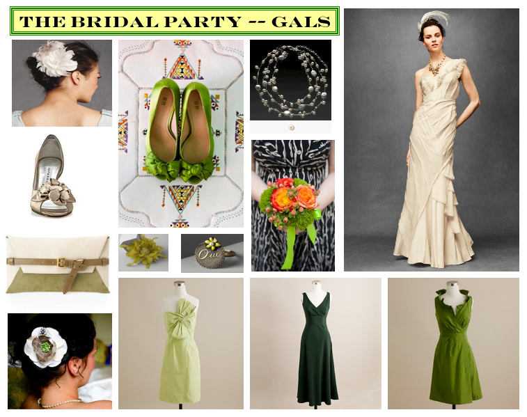 Mood Board :: Wedding Party–The Gals