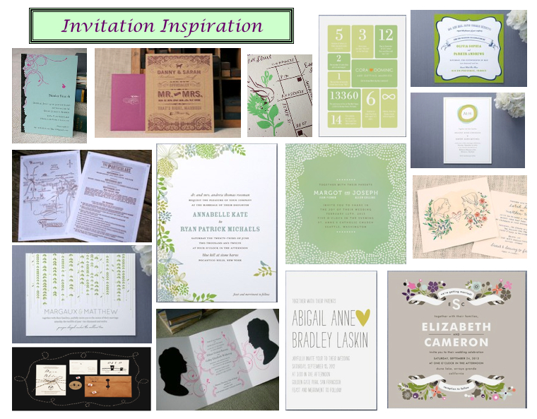 Inspiration Boards :: Save-the-Dates and Invitations