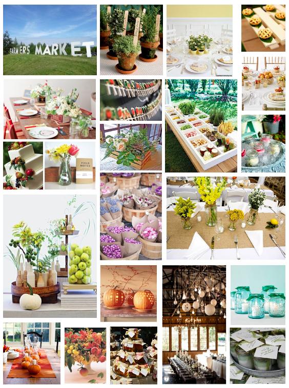 Mood Board Monday :: A Farmer's Market Wedding