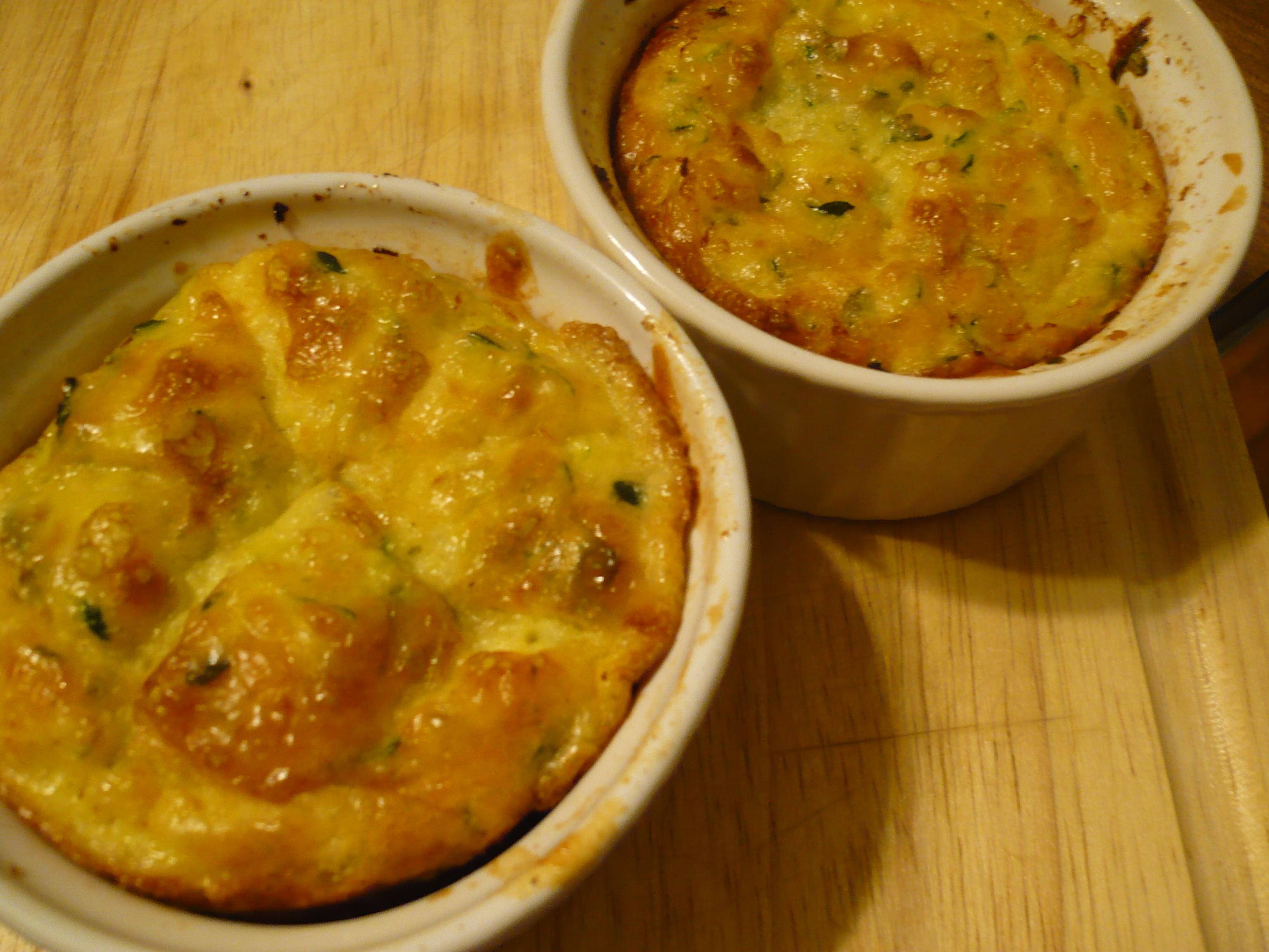 Recipe :: Gouda Zucchini Soufflés