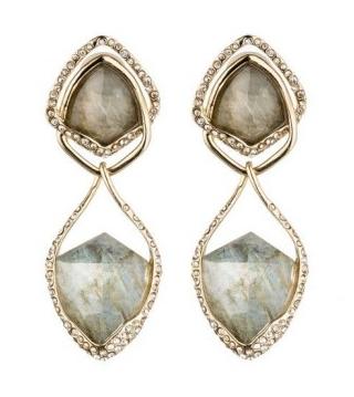 Alexis Bittar Hyperion Gold Labradorite Doublet Orbiting Clip Earring
