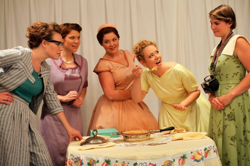 Five Lesbians Eating a Quiche;  photo credit: Anne Petersen