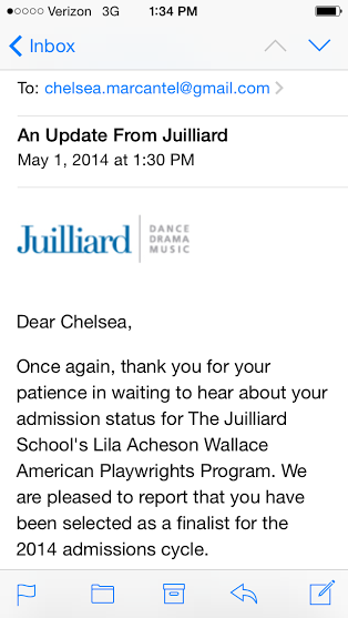 Juilliard Acceptance Rate >> Juilliard. I got into Juilliard. | Chelsea Days