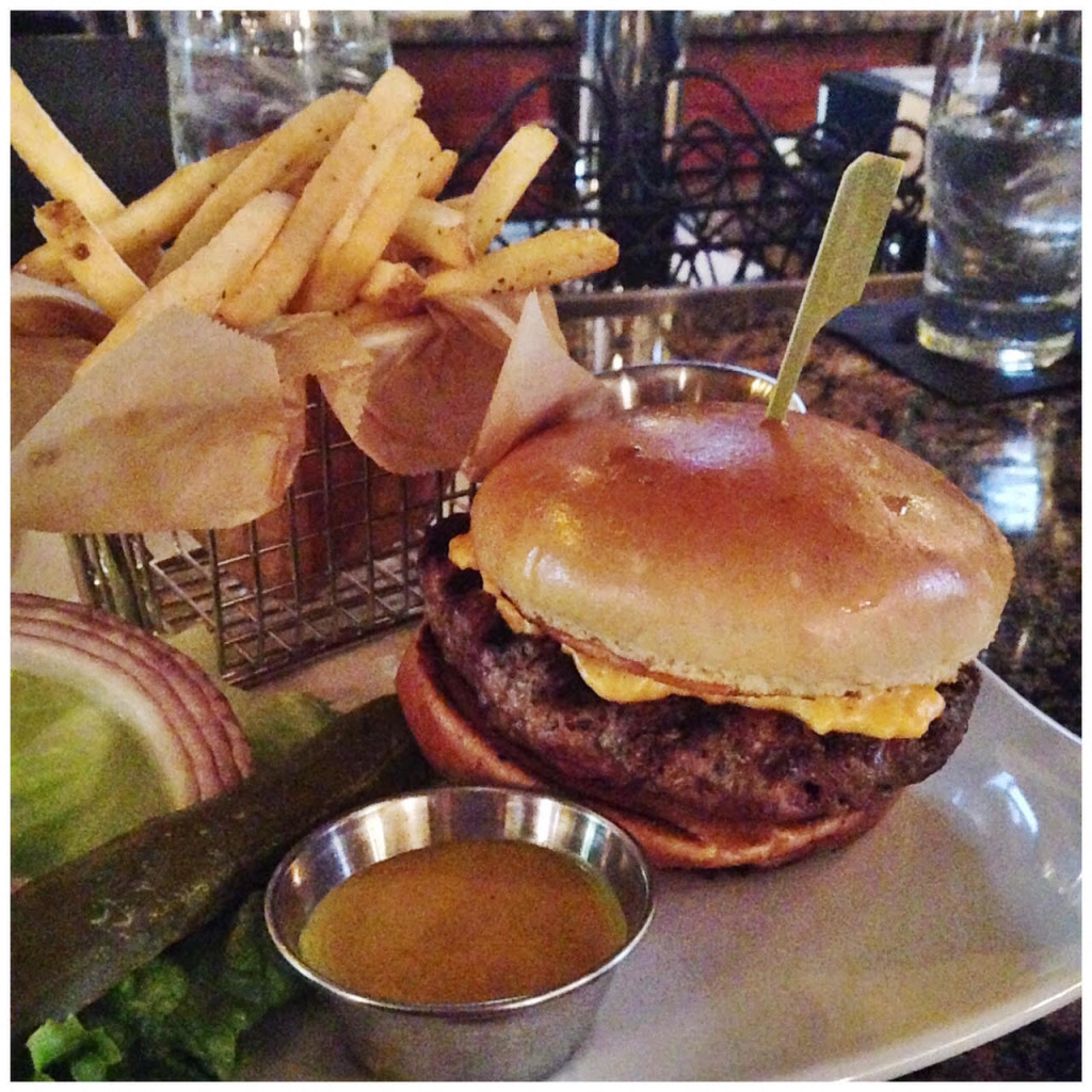 The Chef's Burger with Pimento Cheese at Sisters Grill at the Martha in Abingdon, VA